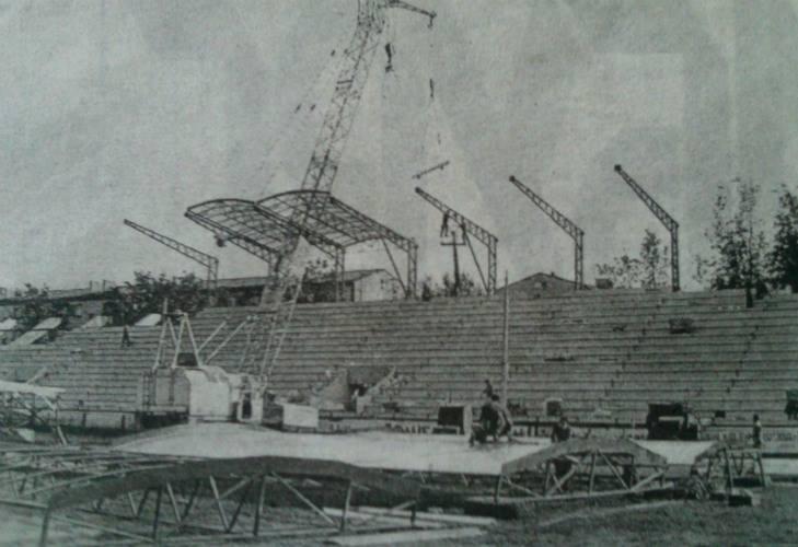 """Стадион """"Локомотив"""" после реконструкции в 2001 году. Фото из газеты"""