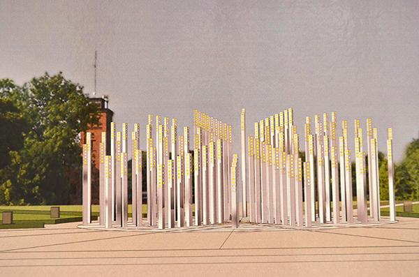 Проект памятника к столетию Латвии в Даугавпилсе