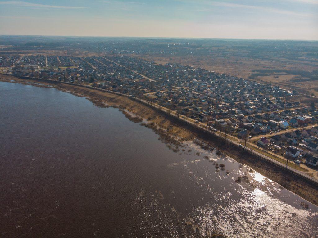 Даугава в районе Гривы. Даугавпилс, апрель, 2019 года.