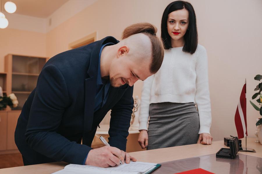Свадебная пара недели: Ольга и Арнис. Даугавпилс, 03.04.2019.