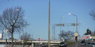 Светофор у моста Виенибас в Даугавпилсе
