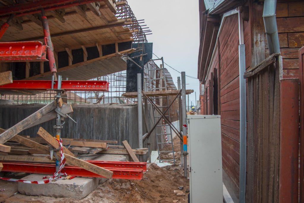 Строительство путепровода на ул. Смилшу в Даугавпилсе