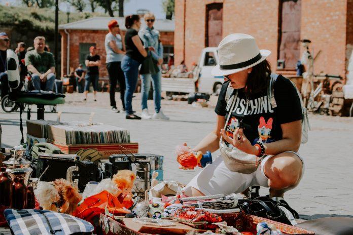 Блошиный рынок в Даугавпилсе