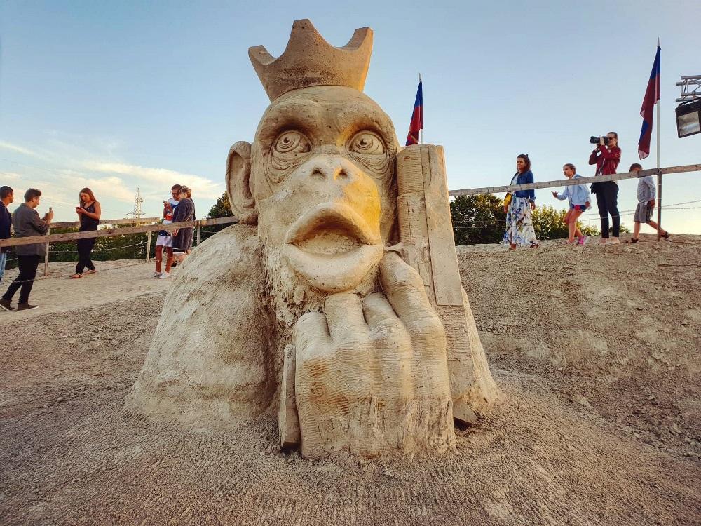 Песчаная скульптура в Елгаве