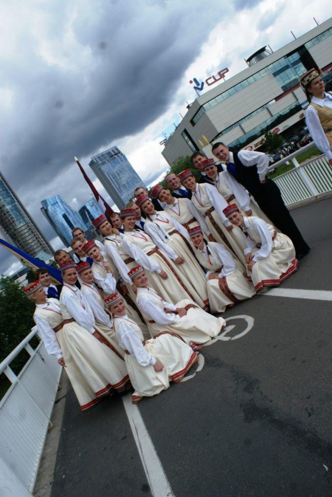 """Лайма"", 2011 год, на студенческом празднике песни и танца ""Gaudeamus"" в Вильнюсе."