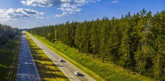 Трасса А6 на вьезде в Даугавпилс