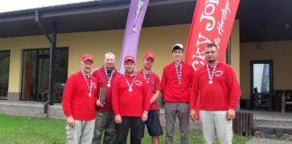 Даугавпилсская команда на втором этапе Чемпионата Латвии по рыбалке. Фото предоставлено Александром Сушко