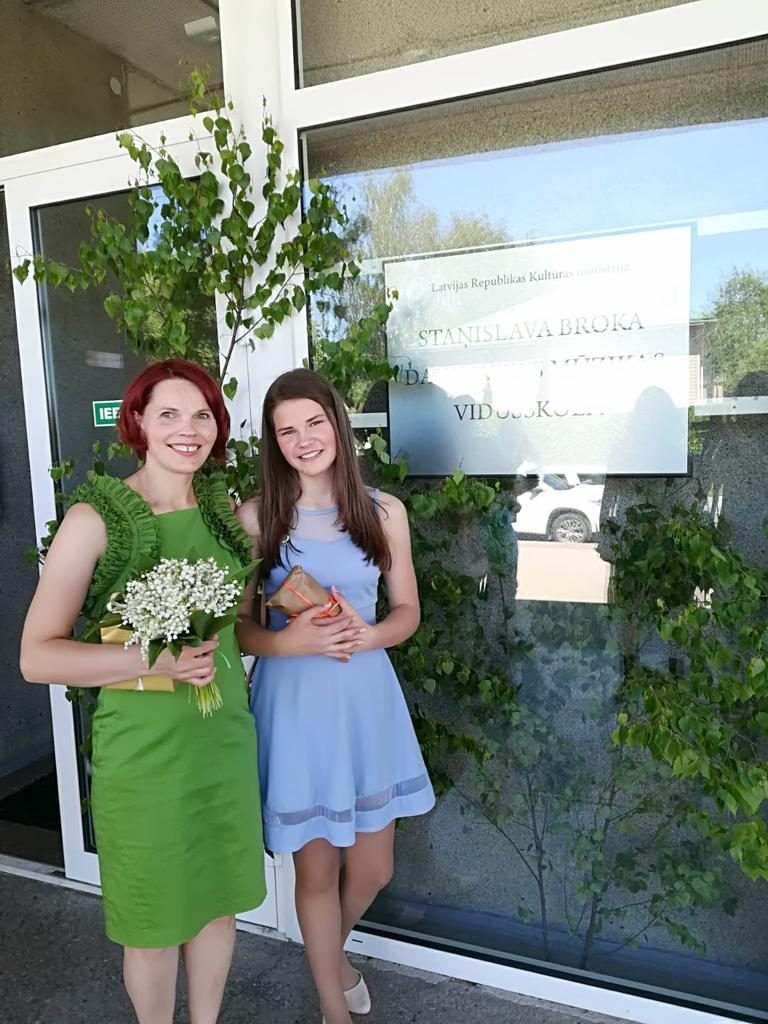 Марита Ирбе и её дочь Анна