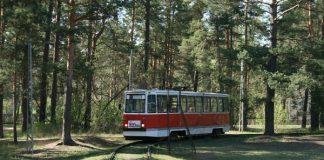 Третий трамвай в Стропах. Фото Виталий Большаков