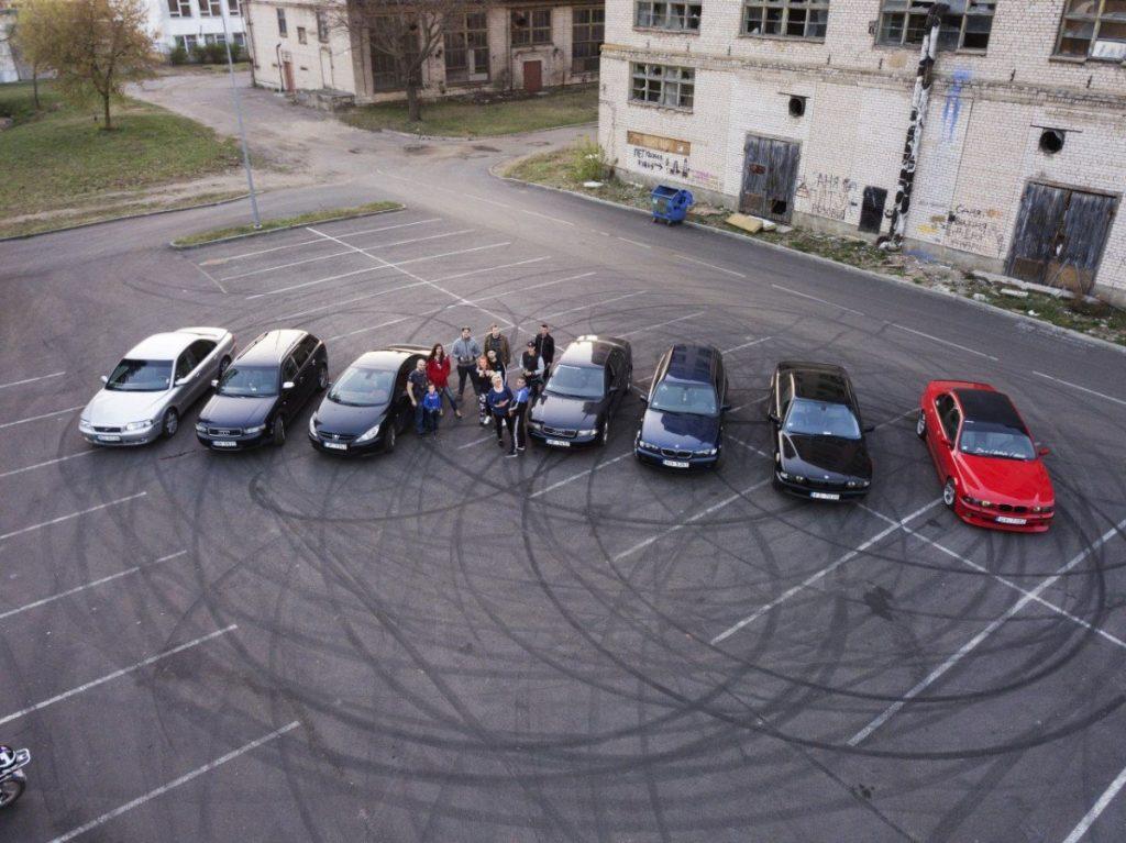 Участники даугавпилсского клуба автомобилистов