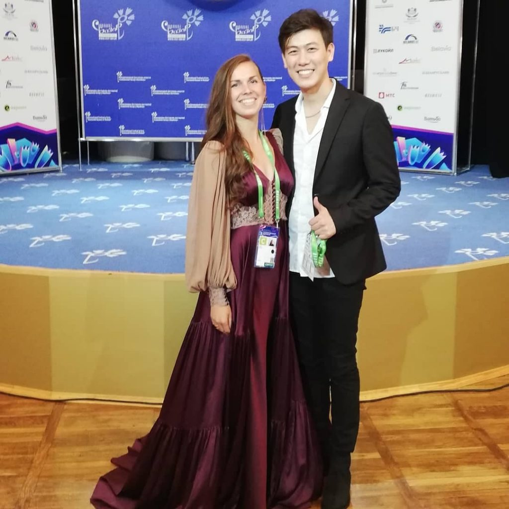 Лидия Бреска и Адильхан Макин (Казахстан) - победитель конкурса молодых исполнителей Славянский базар - 2019