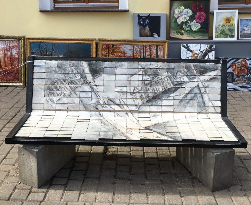 Интерактивная скамейка в Витебске