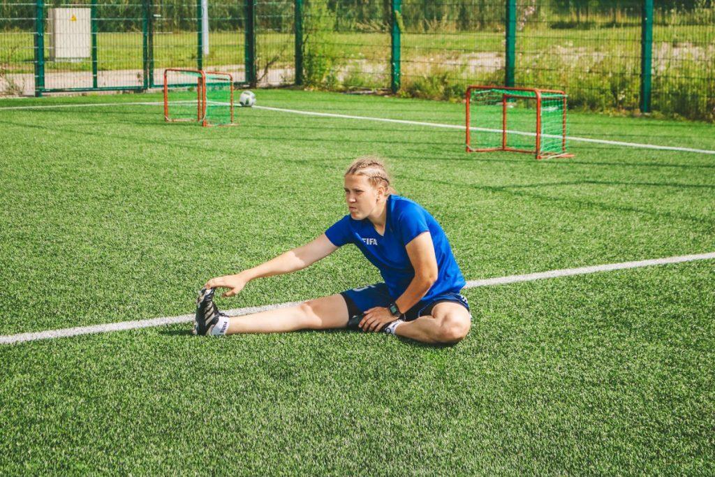 Виктория Вингревич, второй тренер даугавпилсской женской футбольной команды