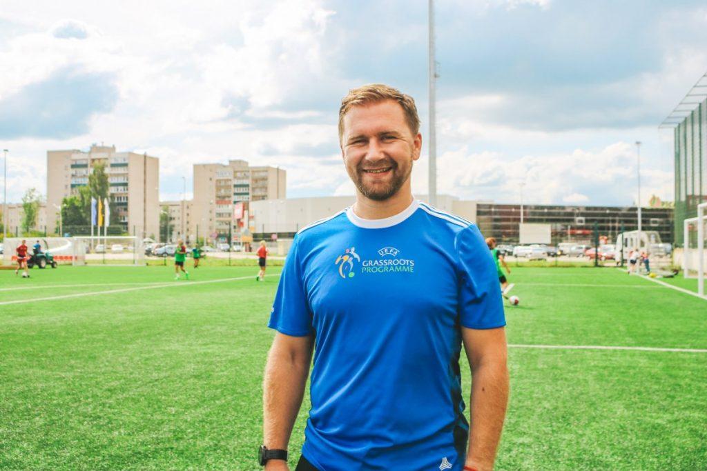 Денис Сарафанюк, тренер даугавпилсской женской футбольной команды