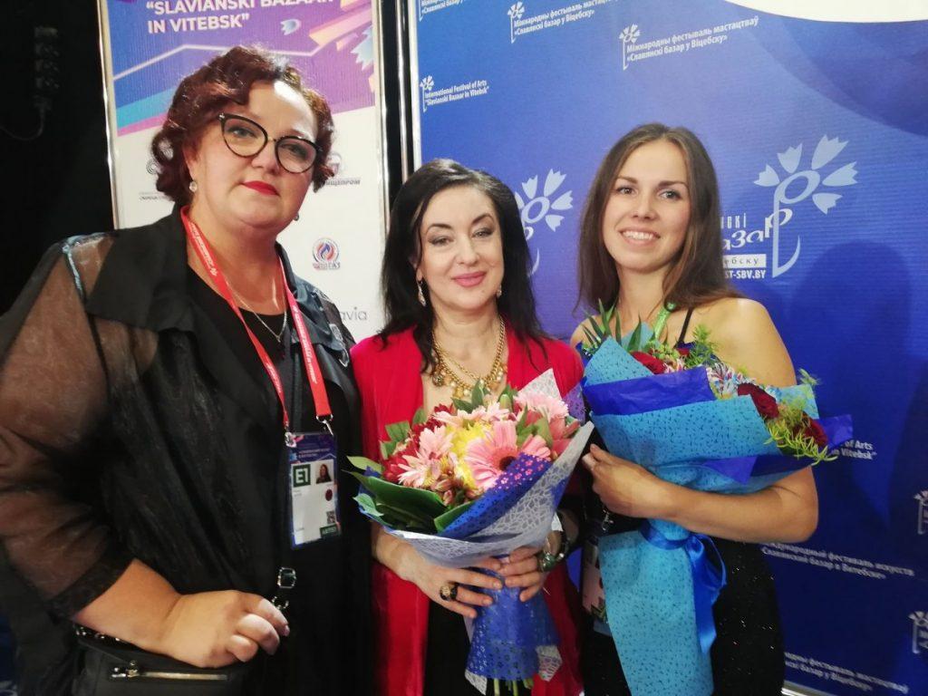 Лидия Бреска с Илоной Багеле и Тамарой Гверцители