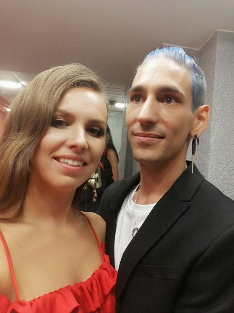 Лидия Бреска с Маттео Росси (Швейцария)
