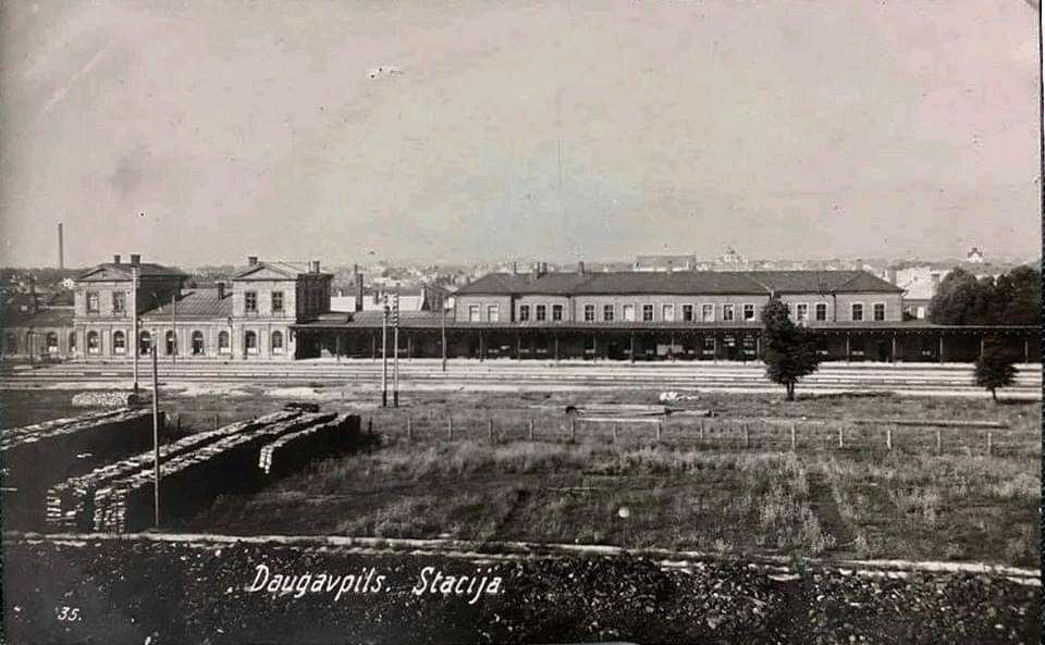 Риго-Орловский вокзал 1920-1923. Фото: Ретро Даугавпилс - Латвия