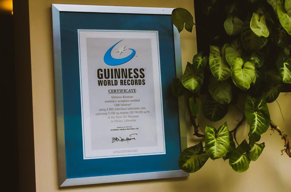 Сертификат Книги рекордов Гиннесса