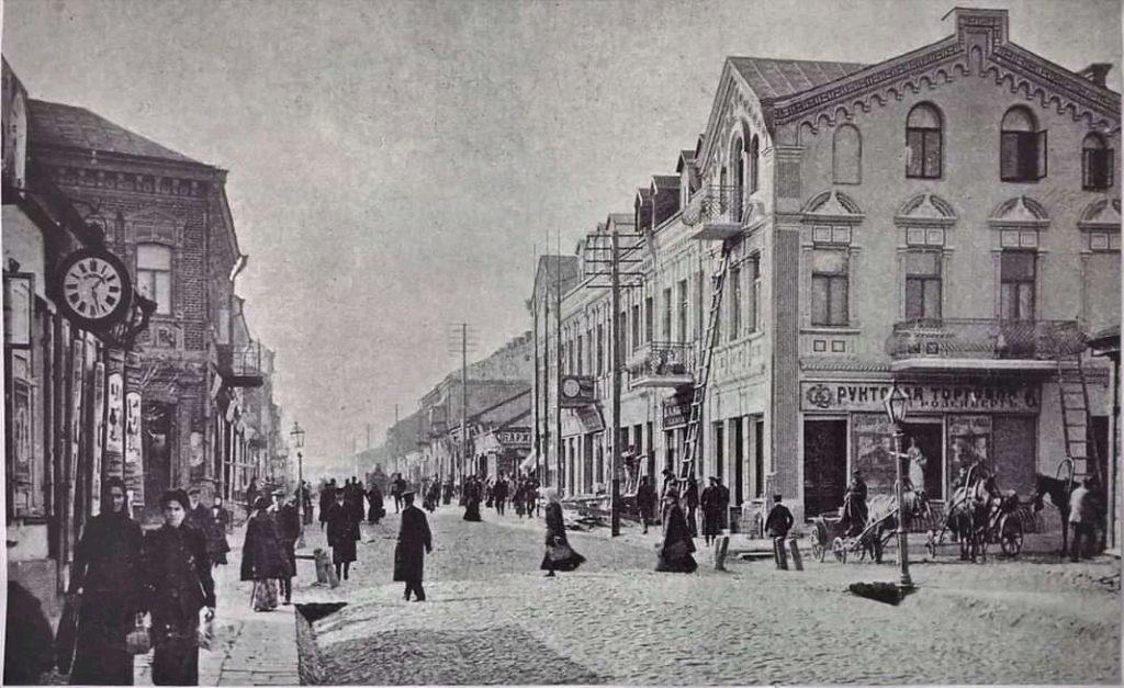 Улица Ригас, начало века. Фото: Ретро Даугавпилс - Латвия