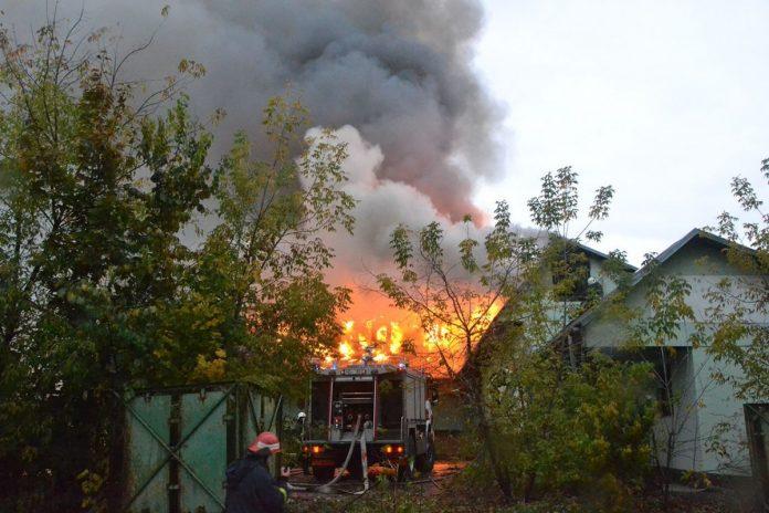 Пожар в Даугавпилсе