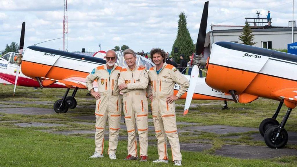Пилоты Aerobatic team ANBO в Даугавпилсе