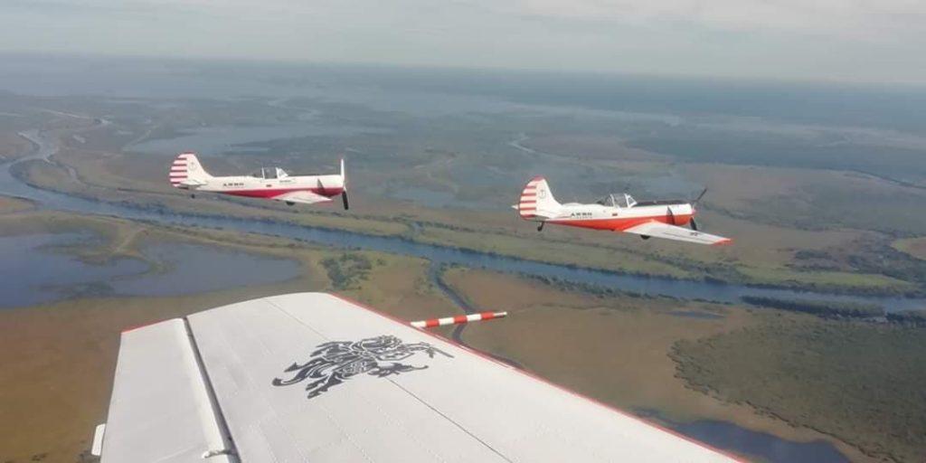 Пилотажная группа Aerobatic team ANBO над Даугавпилсом