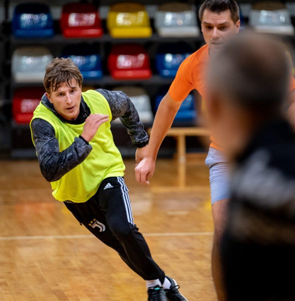 Анджей Лебедев на тренировке
