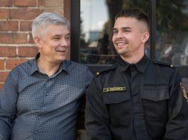 Виталий и Дмитрий Пожарские, пожарные Даугавпилсской пожарно-спасательной службы