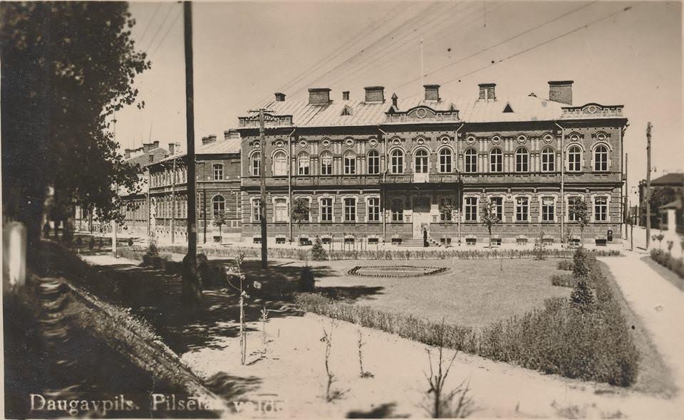 Даугавпилс, городская Дума 1920-30-е годы. Фото: Ретро Даугавпилс - Латвия