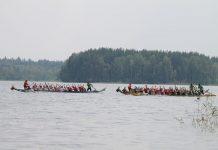"""Фестиваль по гребле в лодках класса """"Дракон"""" . Даугавпилс, Стропское озеро. Август, 2019 года"""