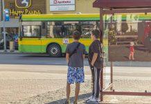 "Автобусная остановка ""Ул. Ригас"" в Даугавпилсе. Фото Евгения Раткова из архива ""Чайки"" (август 2019 года)"
