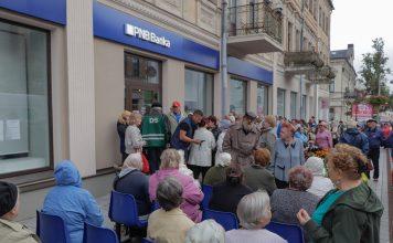 Даугавпилчане ждут открытия PNB Banka. 22 августа 2019 года