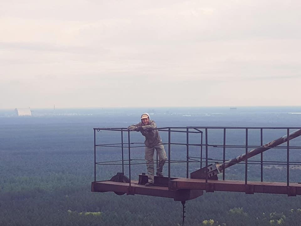 Вадим Поляков на Чернобыльской АЭС. Фото из личного архива
