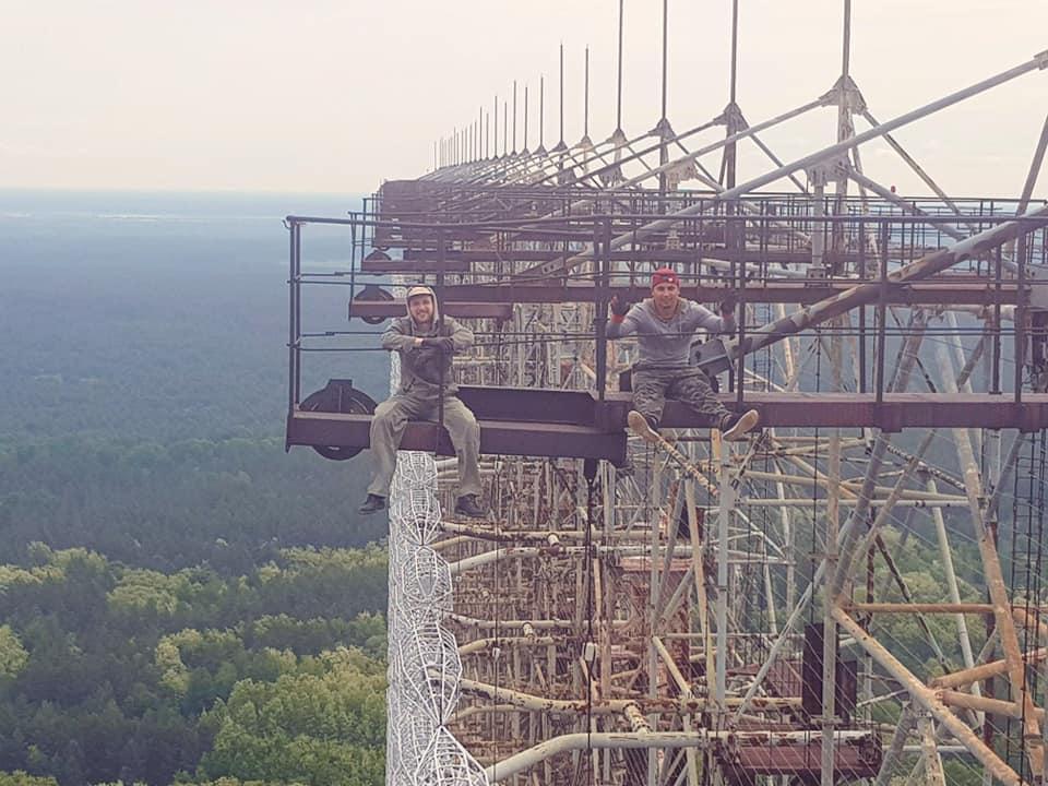 Вадим Поляков и Евгений Петров на Чернобыльской АЭС. Фото из личного архива
