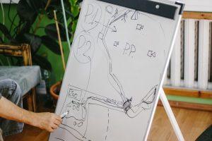 Михаил Пупиньш рисует план новых проектов Латгальского зоосада