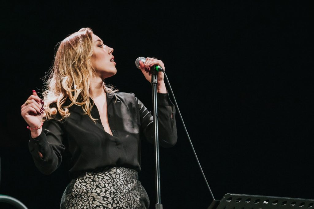 Диана Пашко на концерте в Даугавпилсе. 17 октября 2019 года. Фото: Ирина Маскаленко