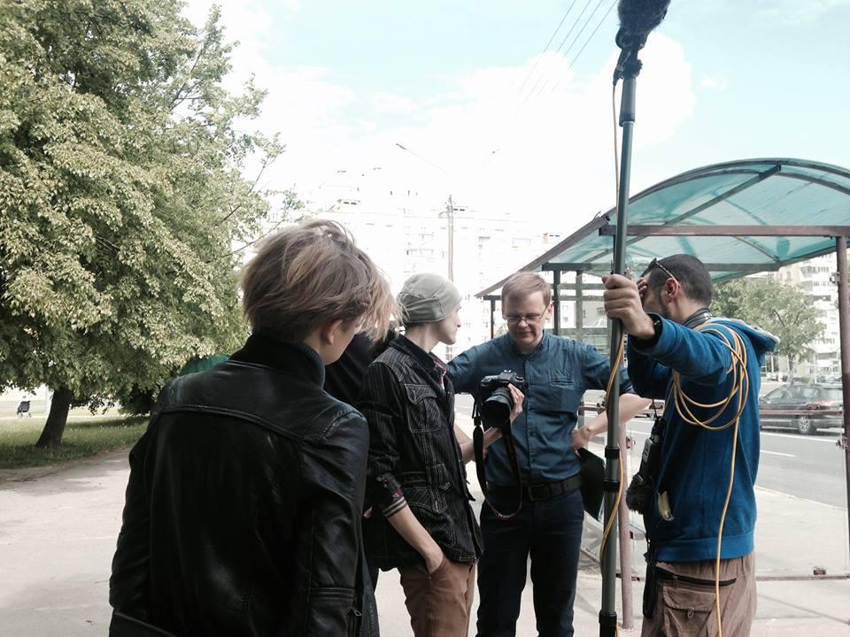 """Андрей Тимофеев. Съёмка """"Сопромата"""". Фото из личного архива"""