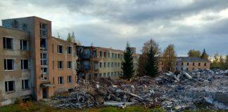 Снос здания в Даугавпилсской крепости. Фото: Евгений Ратков