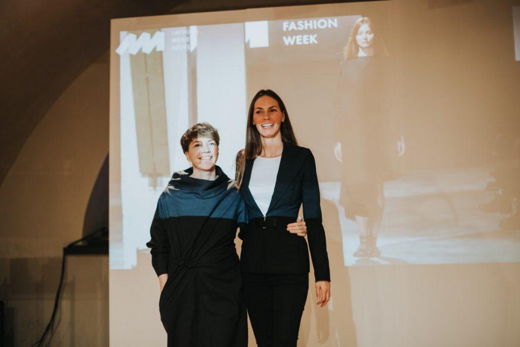 Байба Ладига-Кобаяши и Марта Бижане на лекции в Арт-центре Марка Ротко. Фото: Ирина Маскаленко