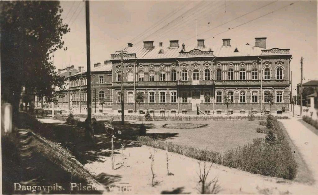 Даугавпилсская Дума, 1930 годы. Фото: Ретро Даугавпилс - Латвия