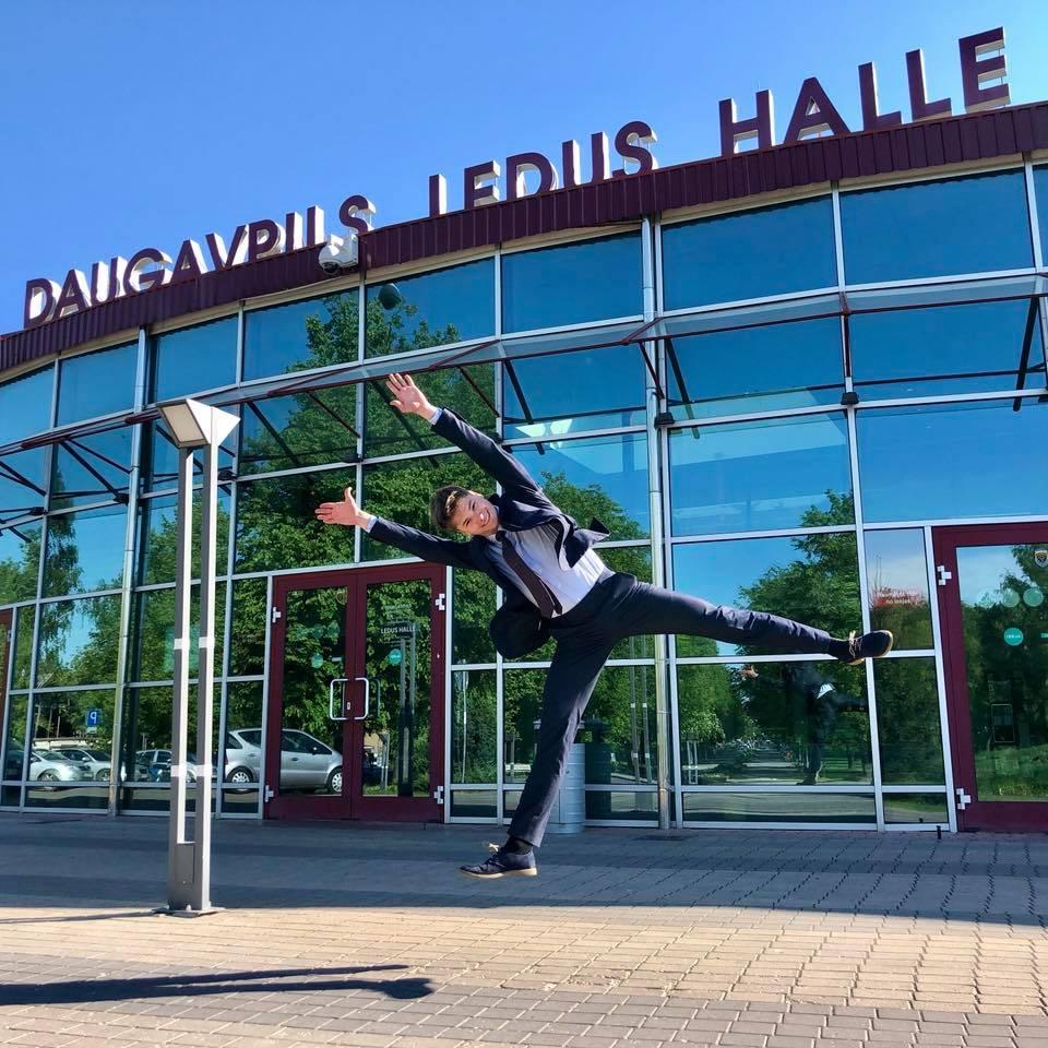 Денис Васильев в Даугавпилсе. Фото с личной страницы на фейсбуке