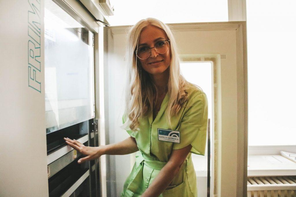 Наталья Гедройц, медсестра Даугавпилсского отделения заготовки крови. Фото: Настя Гавриленко