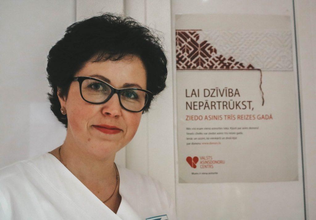 Людмила Потапова, старшая медсестра Даугавпилсского отделения заготовки крови. Фото: Настя Гавриленко