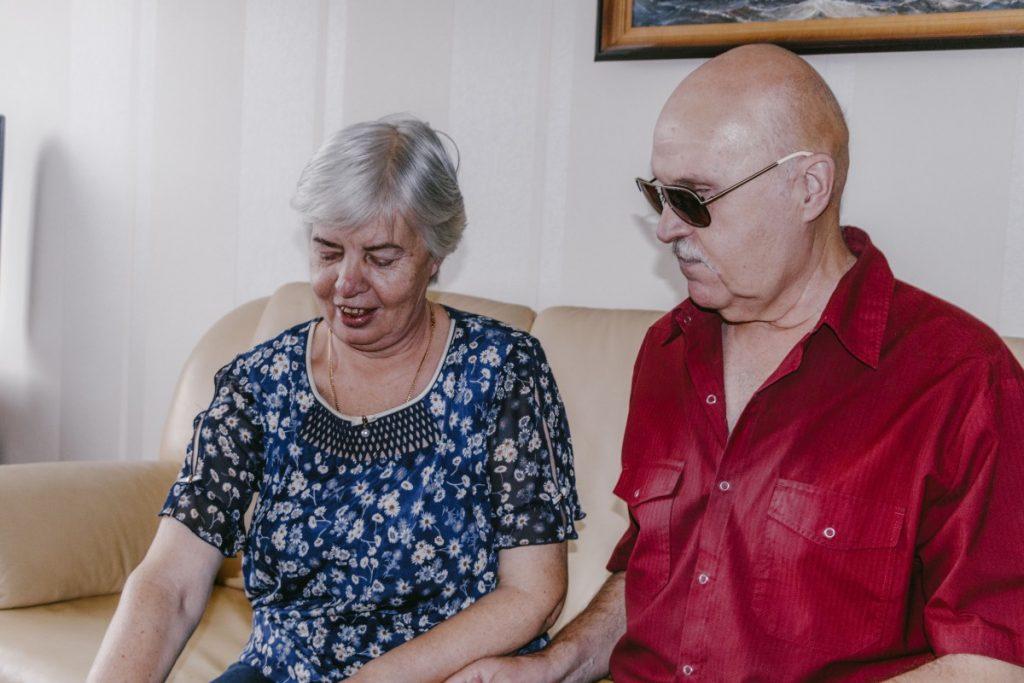 Игорь Федосов с женой Владиславой. Фото: Евгений Ратков