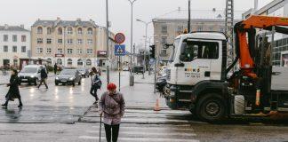 Ремонт трамвайных путей в Даугавпилсе. Ноябрь, 2019 года. Фото: Евгений Ратков