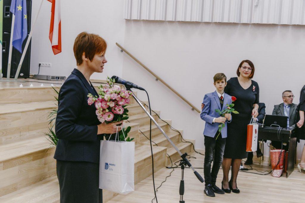 На открытии здания Польской гимназии на ул. Марияс, 1Е в Даугавпилсе. Фото: Евгений Ратков