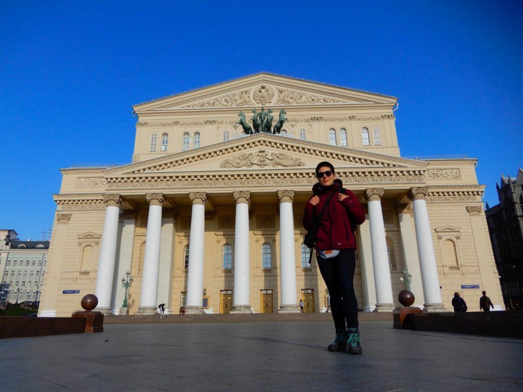 Путешественница Марта Негро. Россия, Москва, Большой театр. Фото из личного архива
