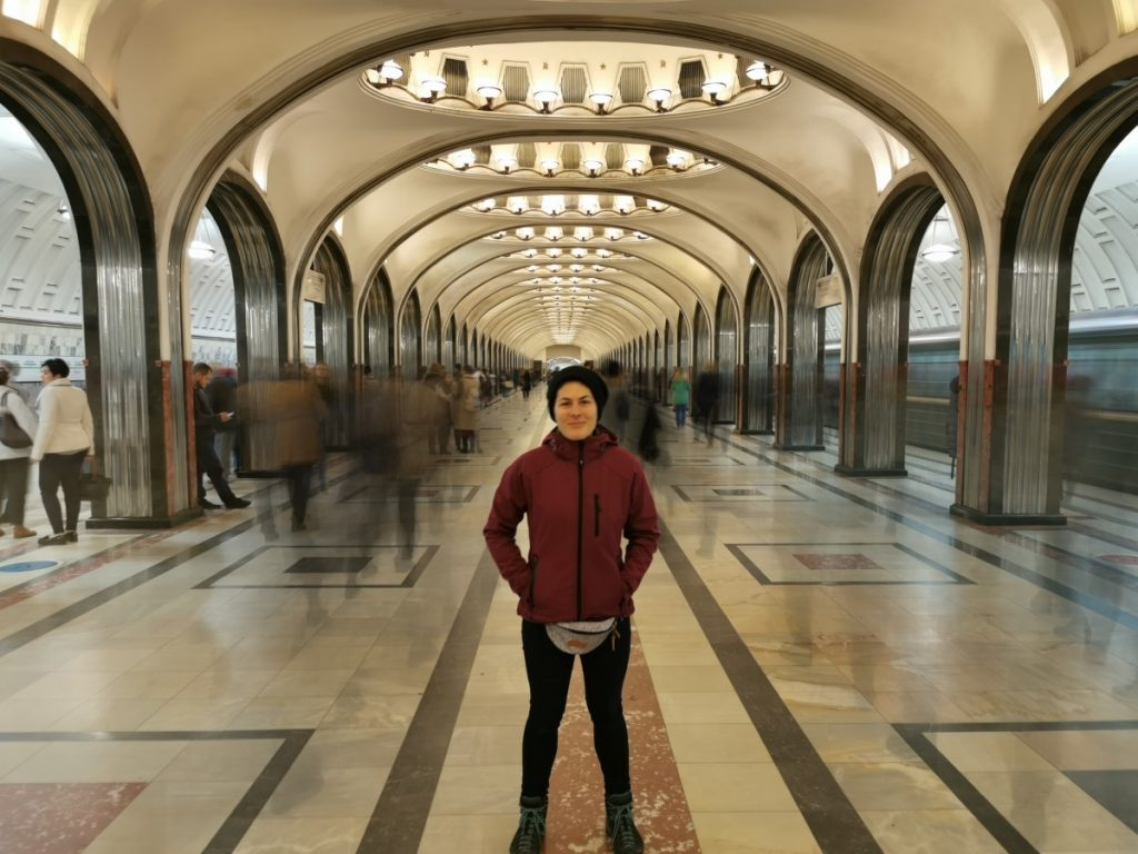 Путешественница Марта Негро. Московское метро. Фото: из личного архива