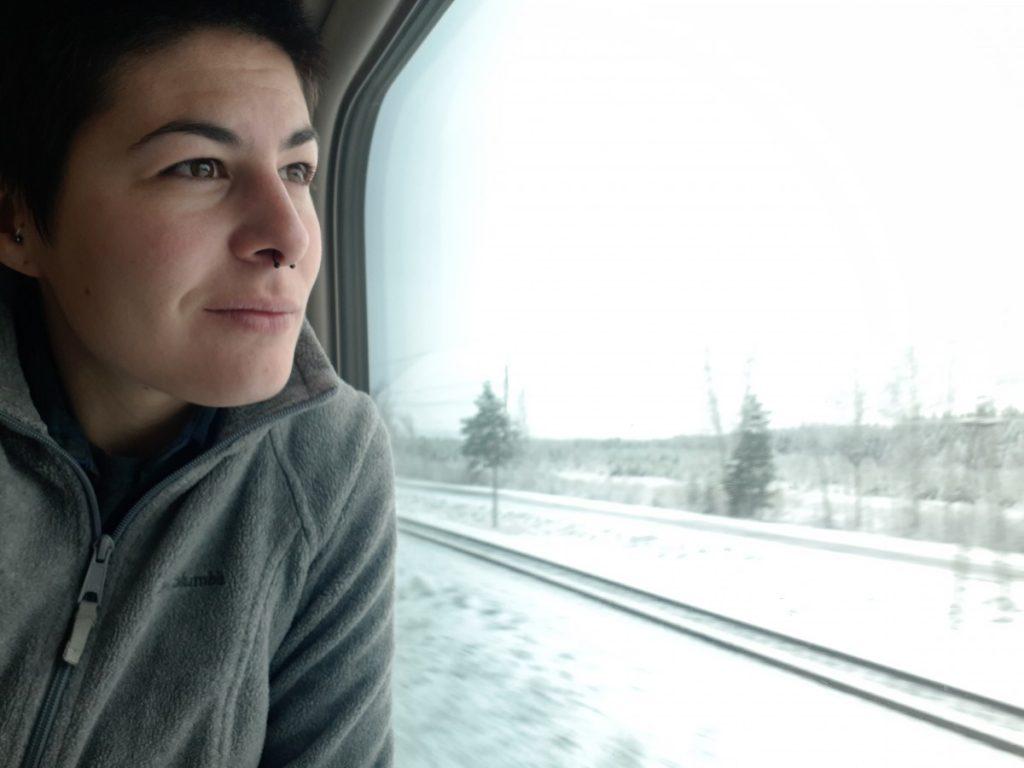 Путешественница Марта Негро. Россия, Транс-сибирская магистраль. Фото: из личного архива