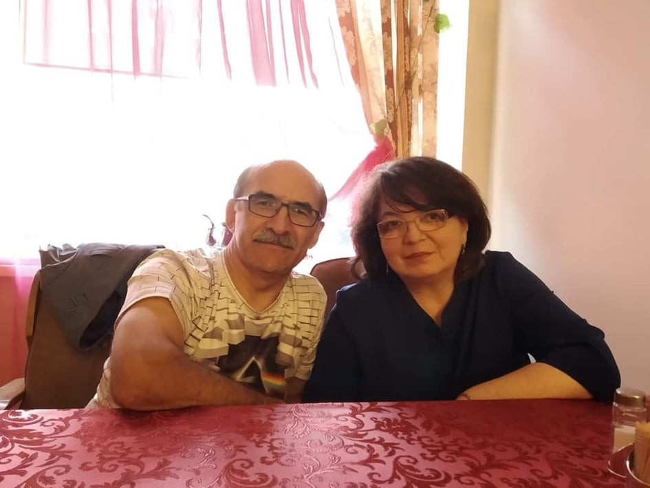 Виолетта Озун с мужем Игорем. Фото из личного архива